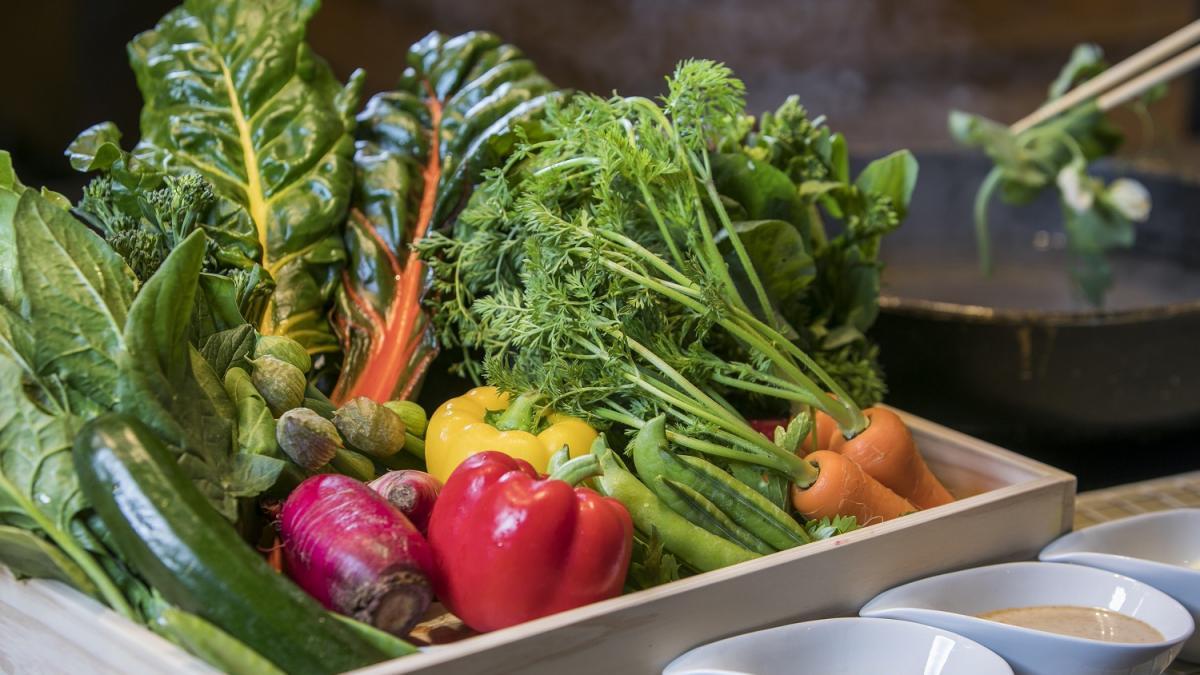 あすか村の野菜のしゃぶしゃぶ