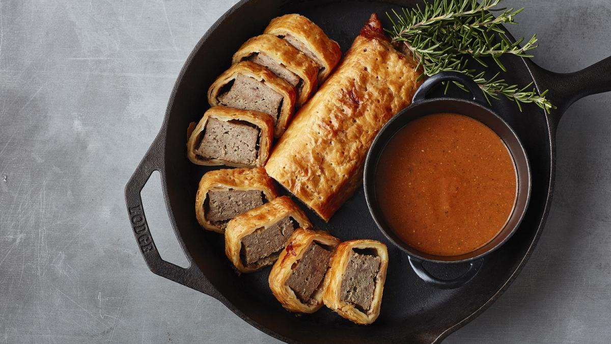 宮崎牛入り挽肉のパイ包み焼き