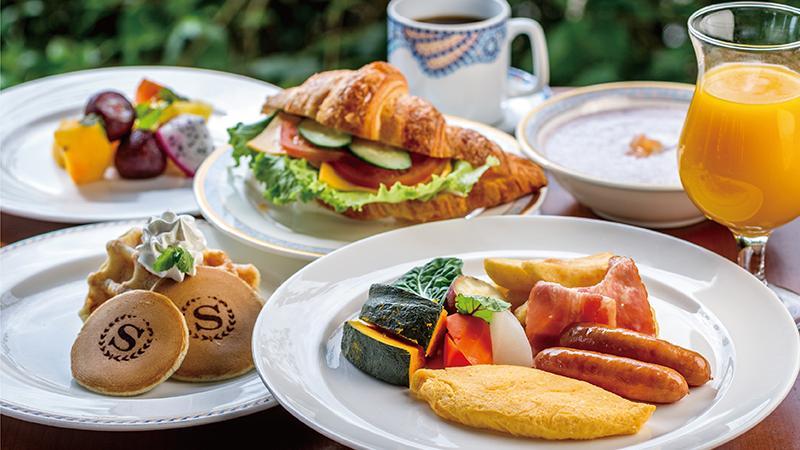 ガーデンビュッフェ「パインテラス」朝食ビュッフェ
