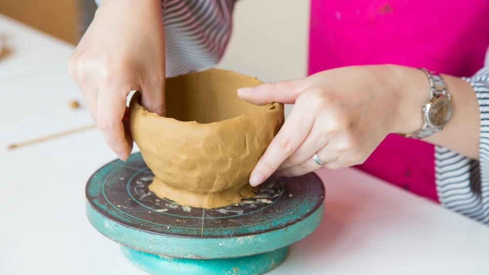 親子でろくろ陶芸