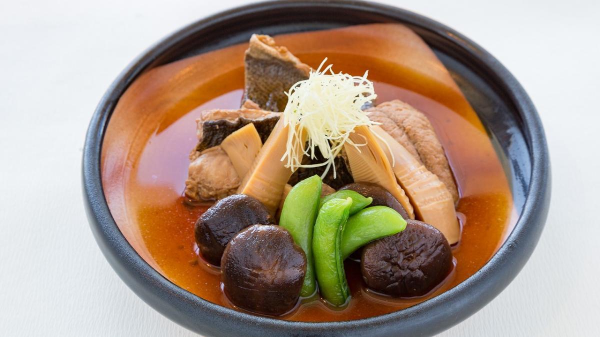 九州の米とあて「米九」イサキとどんこ椎茸の煮付け
