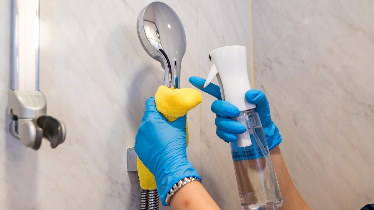 Strict Disinfection During Room Cleaning