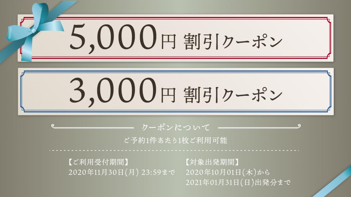 【クーポン企画】航空券付き宿泊プラン 期間限定プロモーション