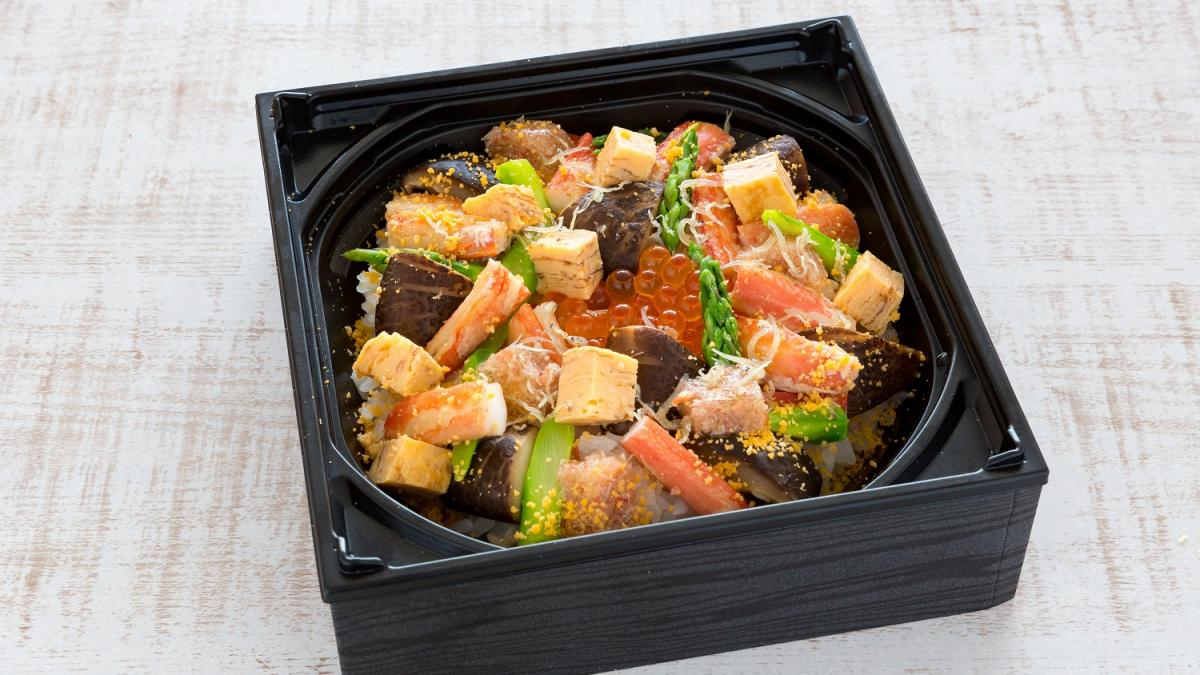 宮崎どんこ椎茸と蟹の散らし寿司<寿司処「八潮」>