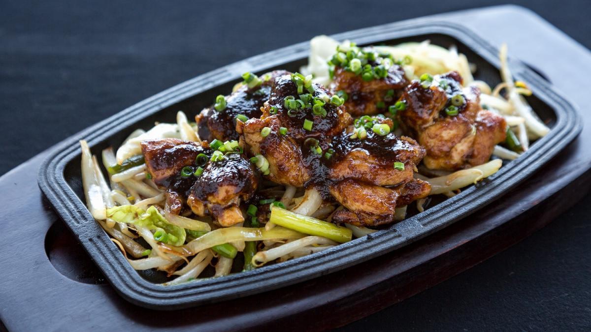 鶏の味噌風味焼き