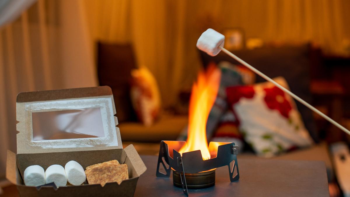 焚き火のスモア