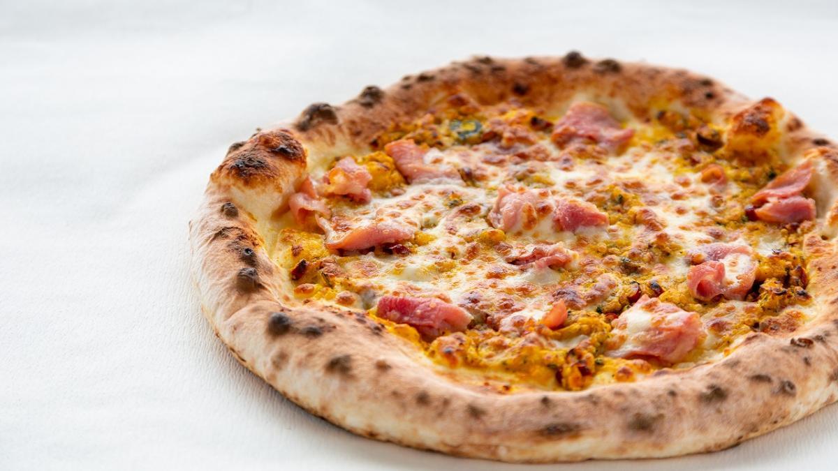 生ハムとカボチャのピッツァ