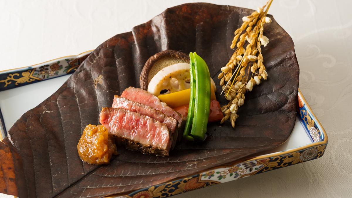 宮崎牛の味噌焼き・朴葉包み