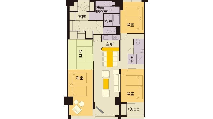 タイムシェアハーフ客室9名部屋