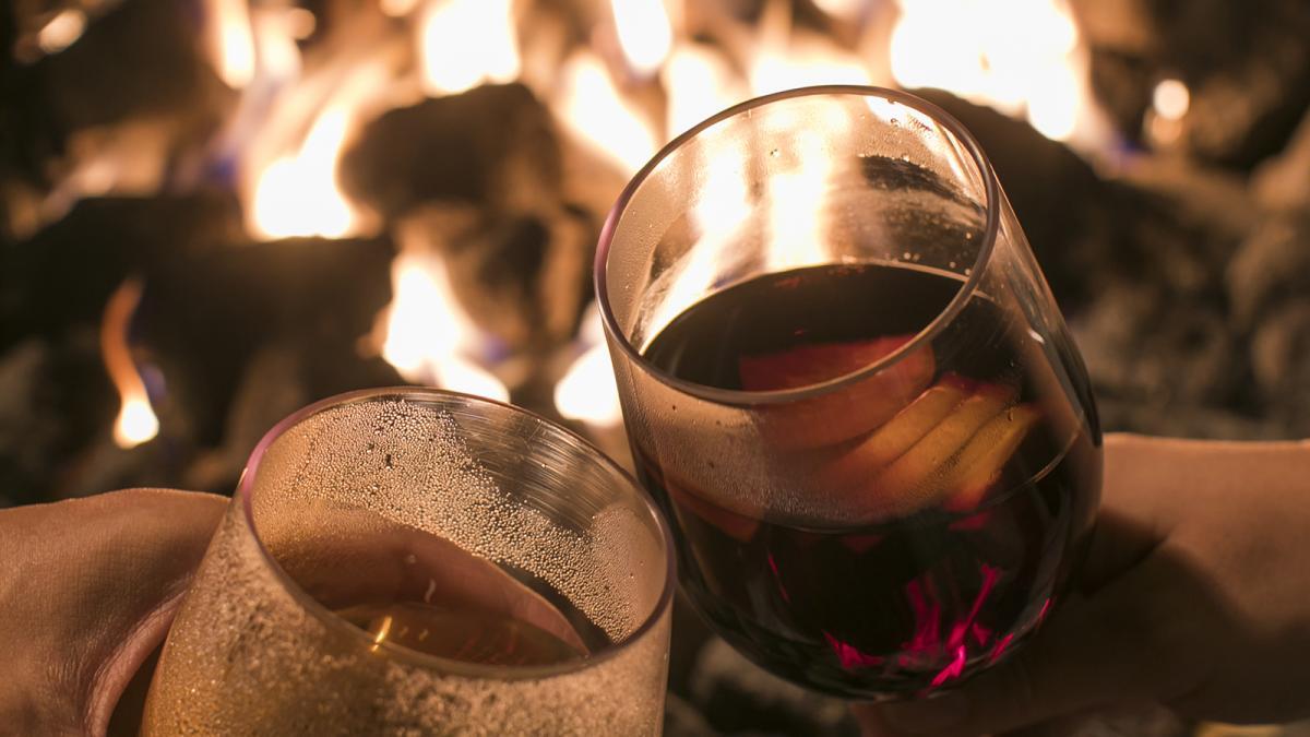 焚火のリビング ホットワイン