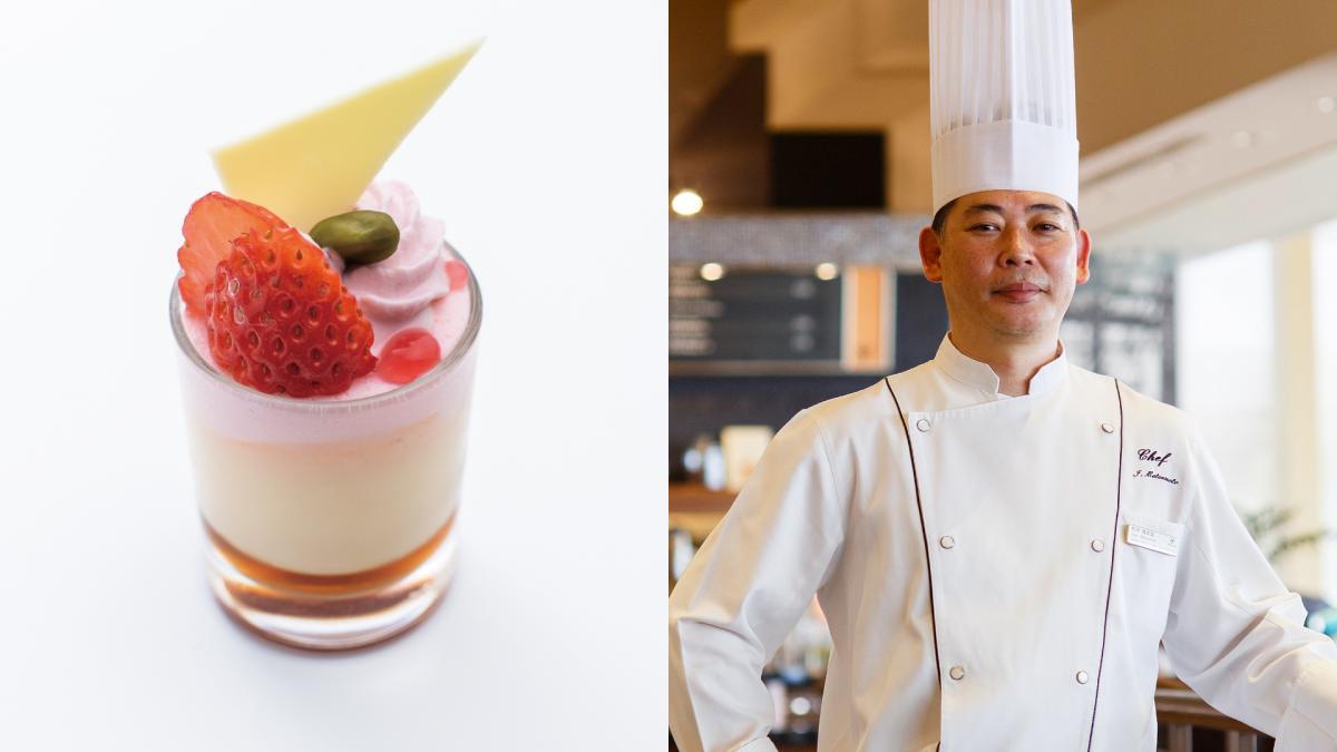千葉県産菜の花蜂蜜と苺のムース