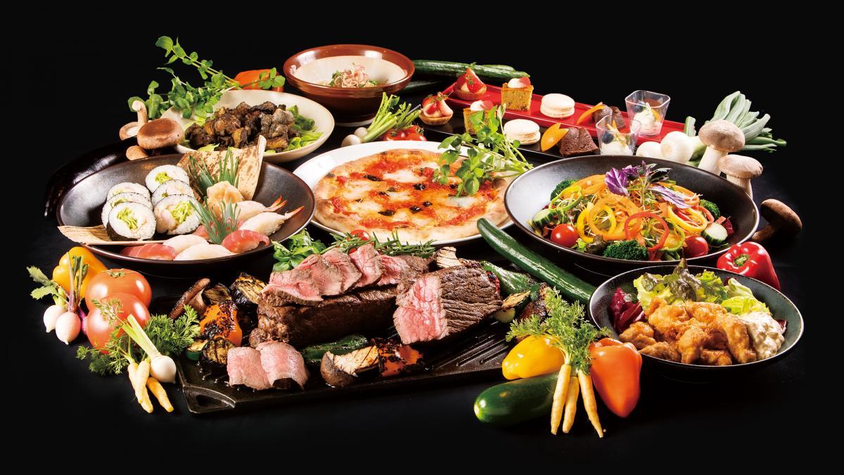 選べる夕食① ガーデンビュッフェ「パインテラス」