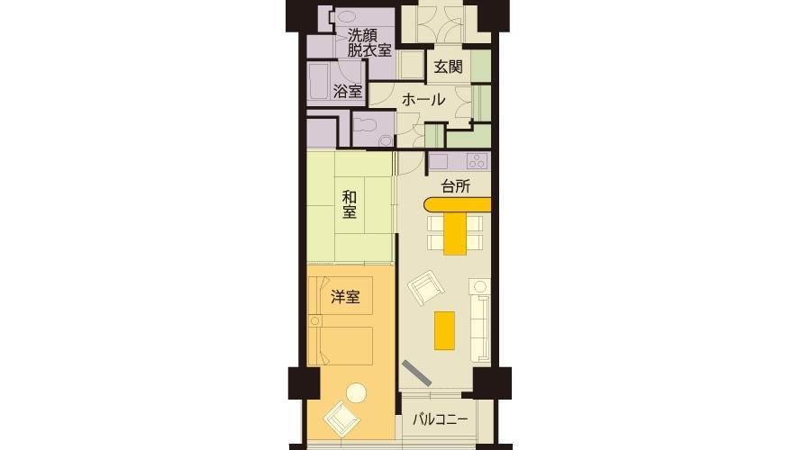 和洋室(6階~9階)