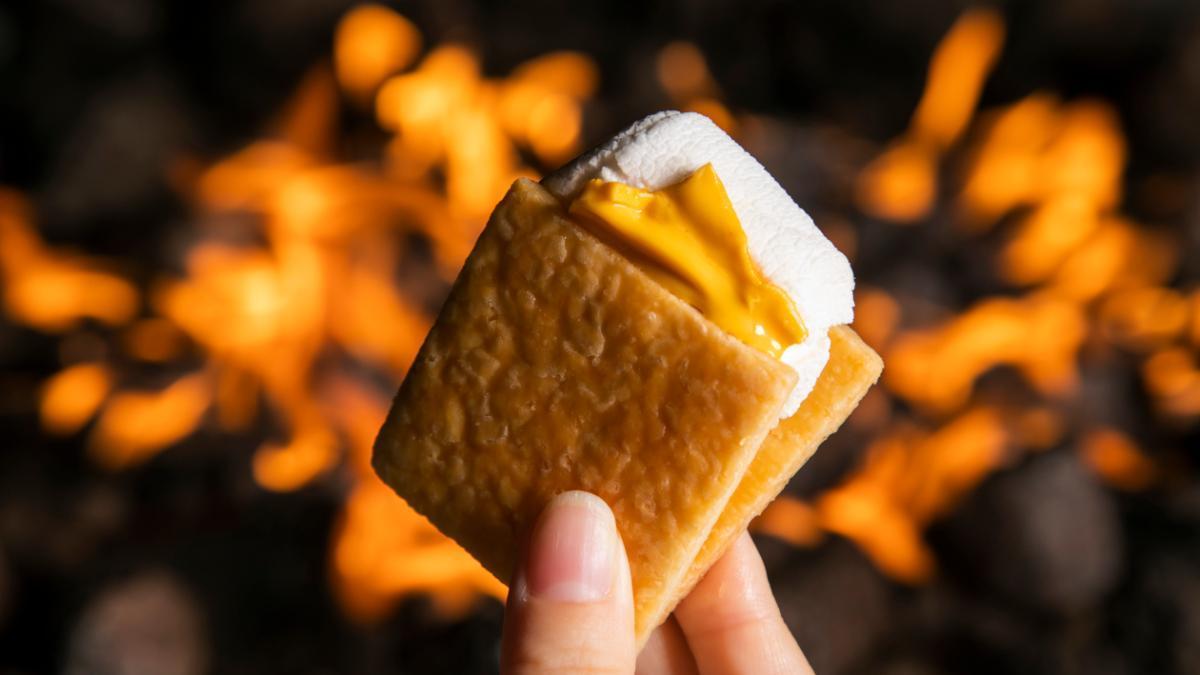 焚き火のスモア マンゴー