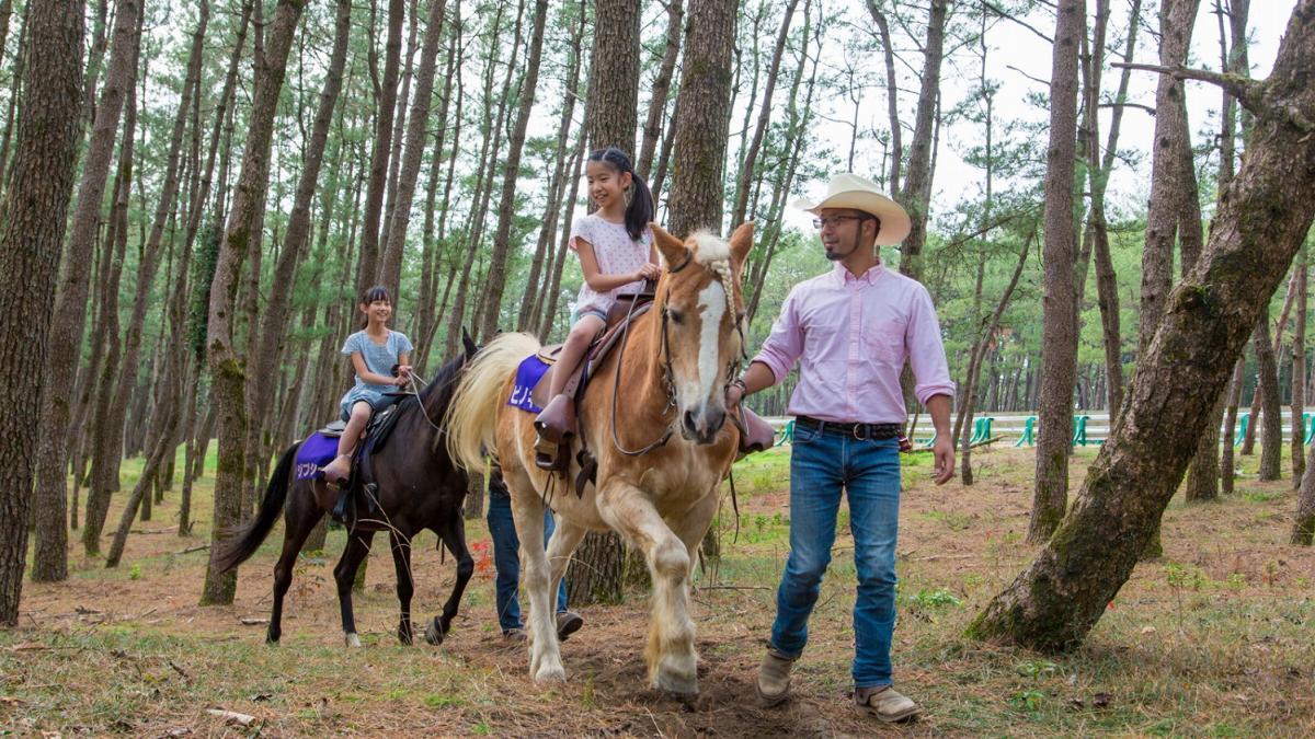 はじめての親子で乗馬体験
