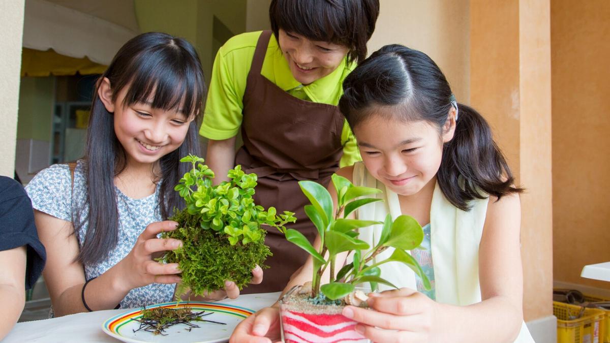 親子で植物アートづくり体験