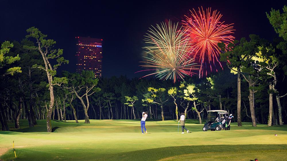 ホシゾラ★ゴルフで花火