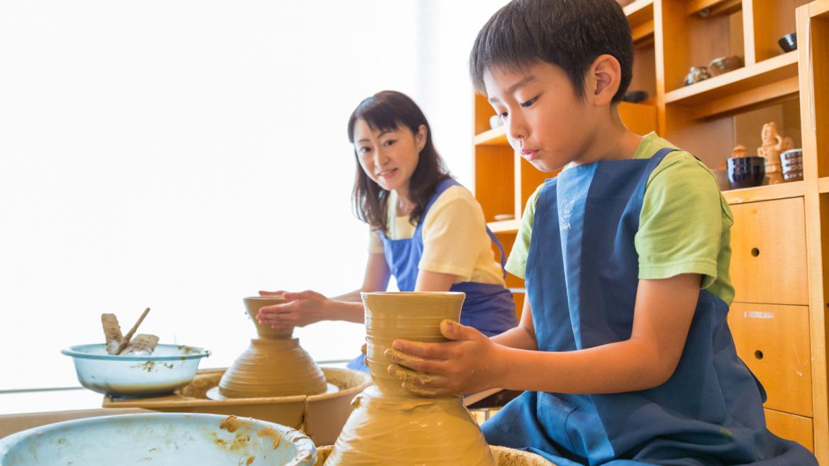 シーガイアの夏休み2019親子でろくろ陶芸